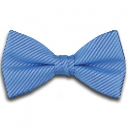 Plain Light Blue Ready Tied Bow Tie with Diagonal Stripe